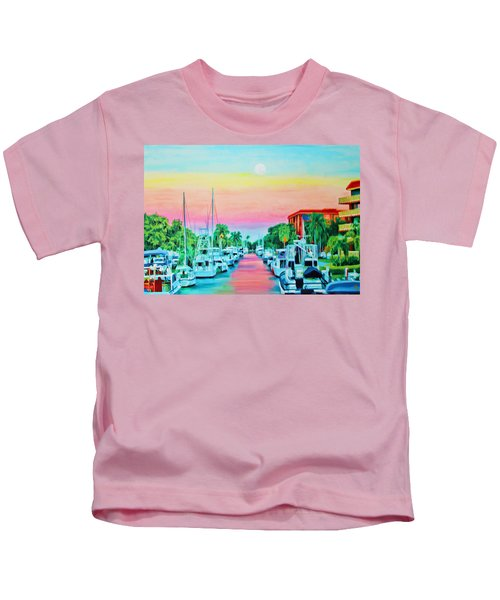 Sunset On The Canal Kids T-Shirt