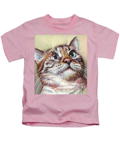 Surprised Kitty Kids T-Shirt