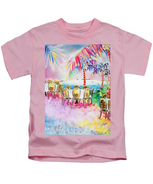 Tables On The Beach Kids T-Shirt