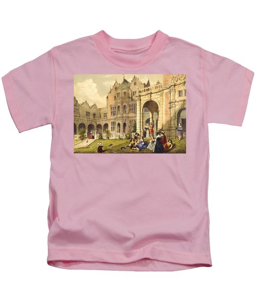 Taking Refreshment On The Terrace Lawn Kids T-Shirt