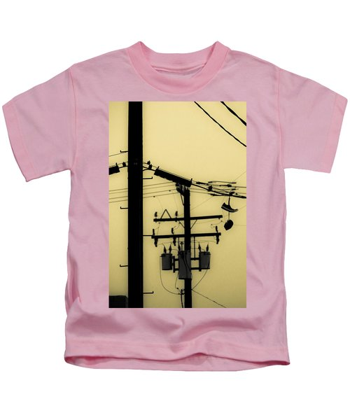 Telephone Pole And Sneakers 5 Kids T-Shirt