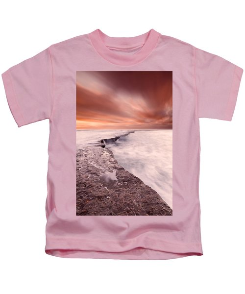 The Edge Of Earth Kids T-Shirt