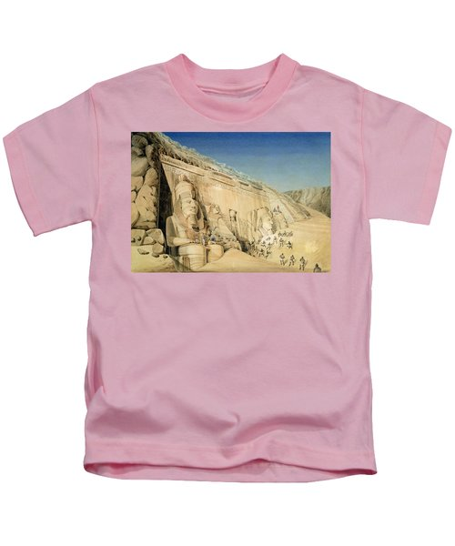 The Excavation Of The Great Temple Of Ramesses II Kids T-Shirt