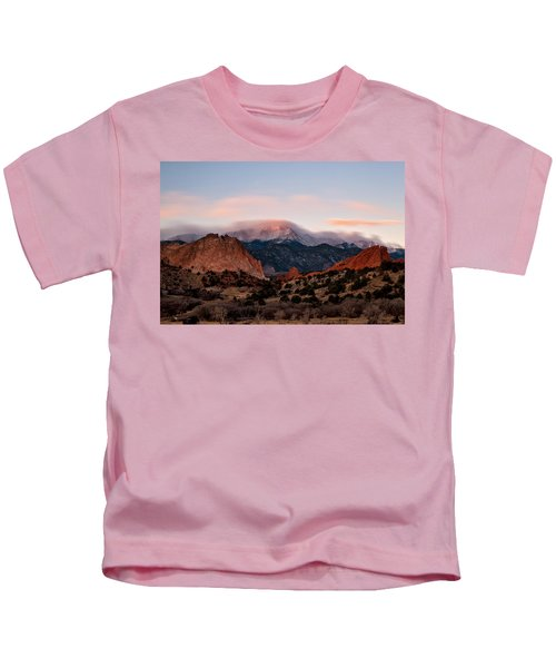The Flow Over Pikes Peak Kids T-Shirt