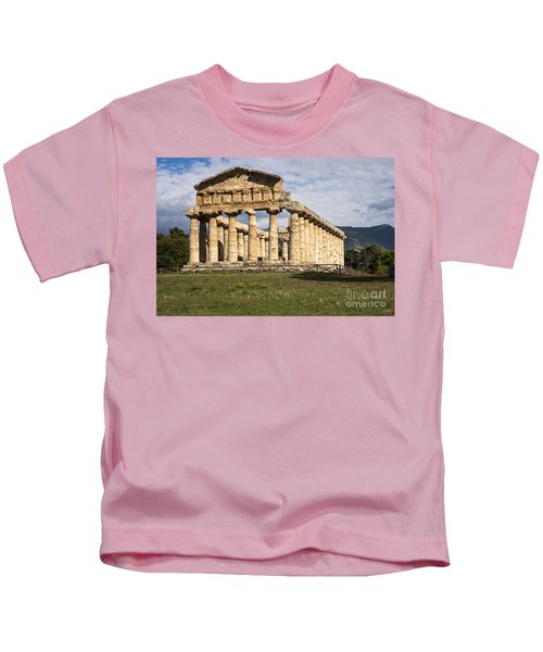 The Greek Temple Of Athena Kids T-Shirt
