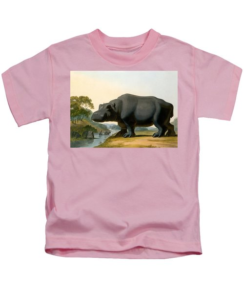 The Hippopotamus, 1804 Kids T-Shirt by Samuel Daniell