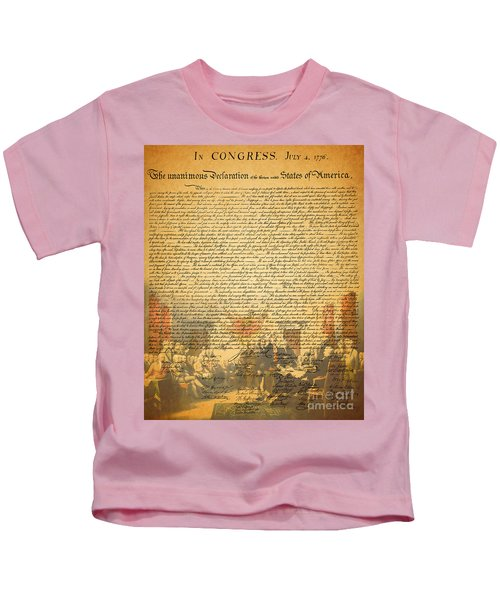 The Signing Of The United States Declaration Of Independence Kids T-Shirt