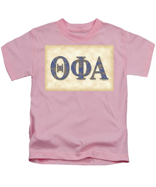 Theta Phi Alpha - Parchment Kids T-Shirt by Stephen Younts
