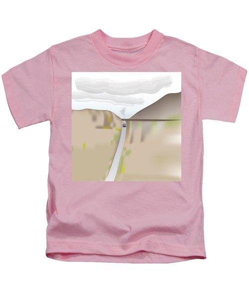 Train Landscape Kids T-Shirt