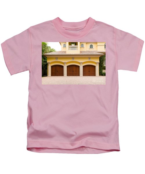 Triple Garage Doors Kids T-Shirt