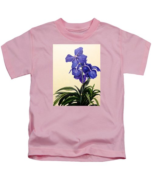 Vanda Sausai Blue Orchid Kids T-Shirt