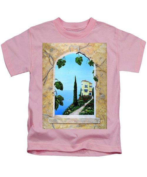 Villa By The Sea Kids T-Shirt