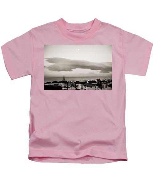 Village Rooftops At Sunrise Kids T-Shirt