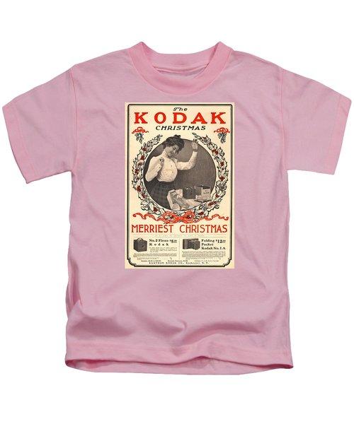 Vintage Kodak Christmas Card Kids T-Shirt