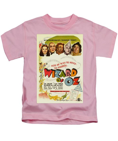 Vintage Wizard Of Oz Movie Poster 1939 Kids T-Shirt