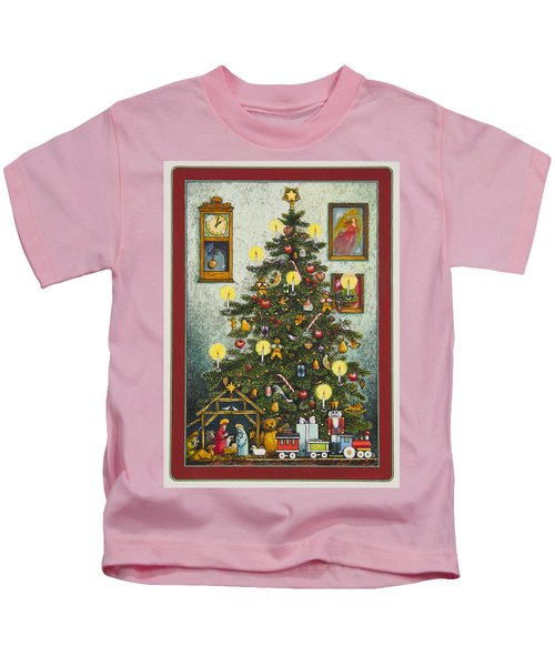 Waiting For Christmas Morning Kids T-Shirt