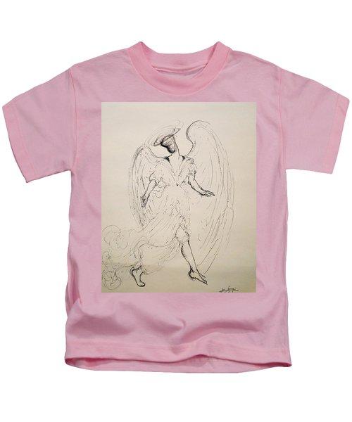 Walking With An Angel Kids T-Shirt