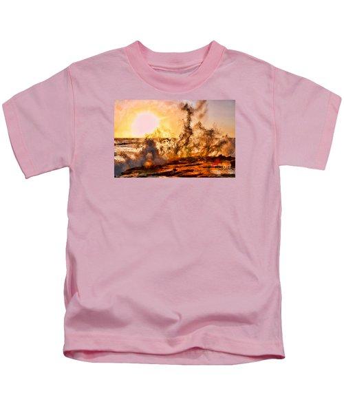 Wave Crasher La Jolla By Diana Sainz Kids T-Shirt