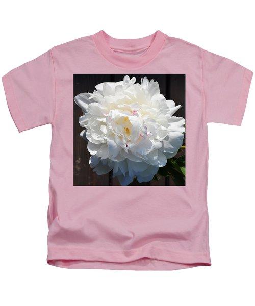 White Peony Kids T-Shirt