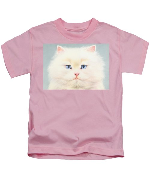 White Persian Kids T-Shirt