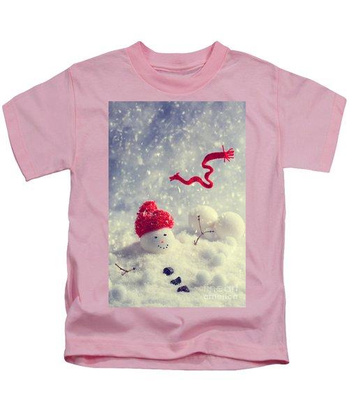 Winter Snowman Kids T-Shirt