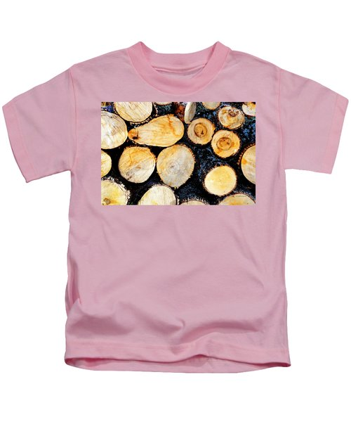 Wood Pile Kids T-Shirt