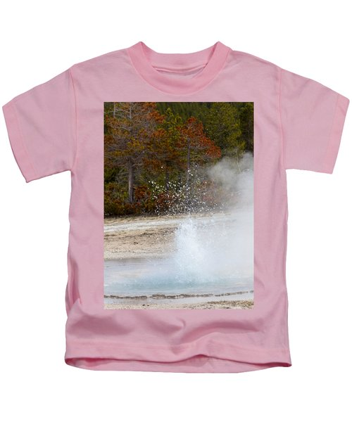 Yellowstone Geyser Kids T-Shirt