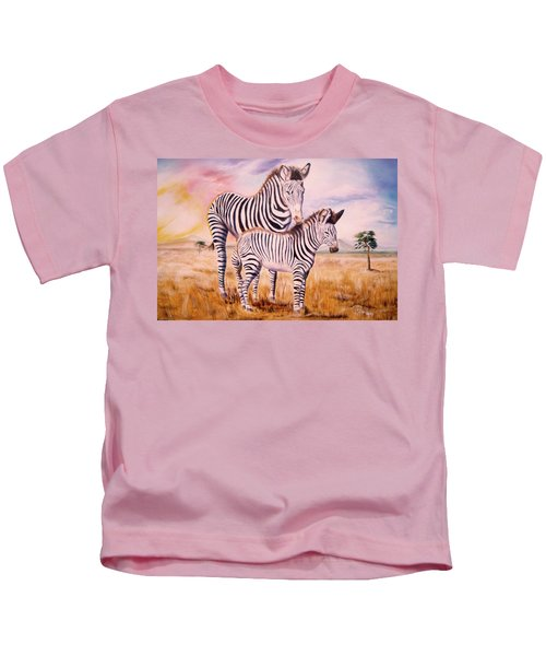Zebra And Foal Kids T-Shirt