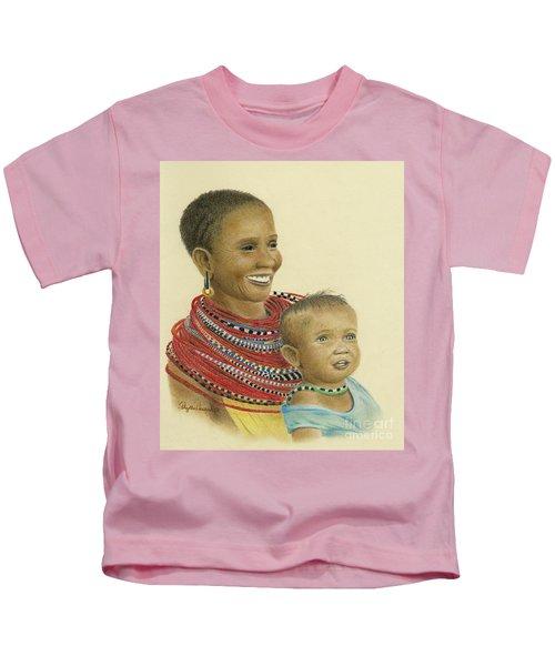 Masai Mom And Babe Kids T-Shirt