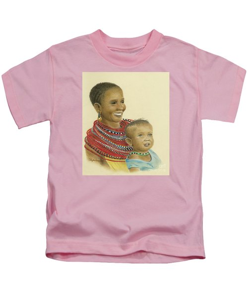 Masai Mom And Babe Kids T-Shirt