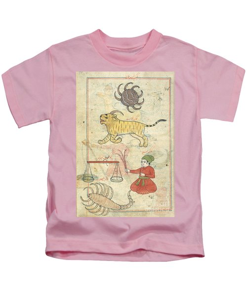 Zodiacal Constellations, 17th Century Kids T-Shirt