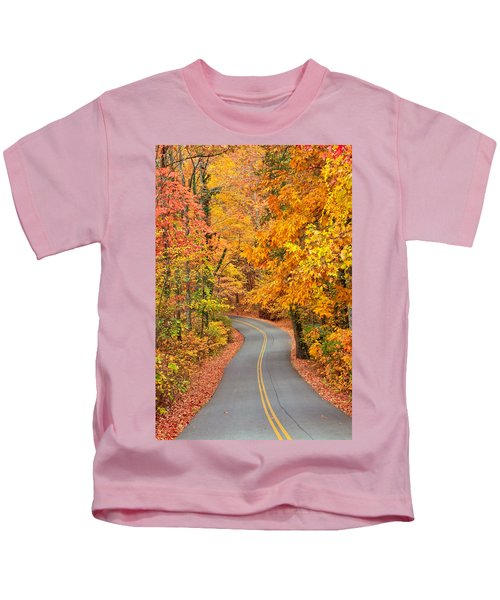 Autumn Drive Signal Mountain Kids T-Shirt