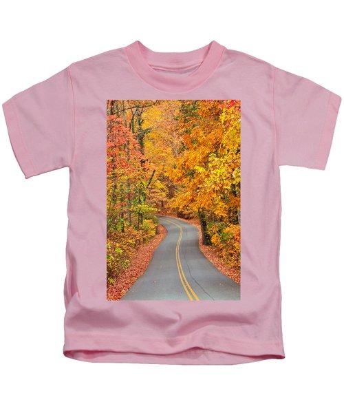 Autumn Drive Signal Mountain Kids T-Shirt