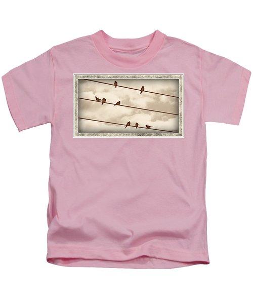 Birds On Wires Kids T-Shirt