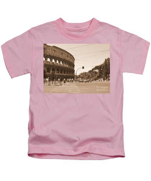 Colosseum In Sepia Kids T-Shirt
