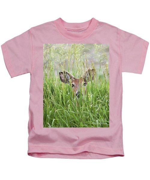Deer In Hiding Kids T-Shirt