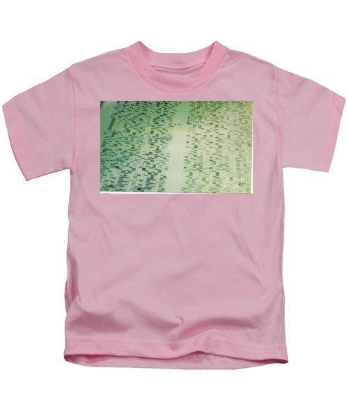 Dna Sequencing Gel Kids T-Shirt