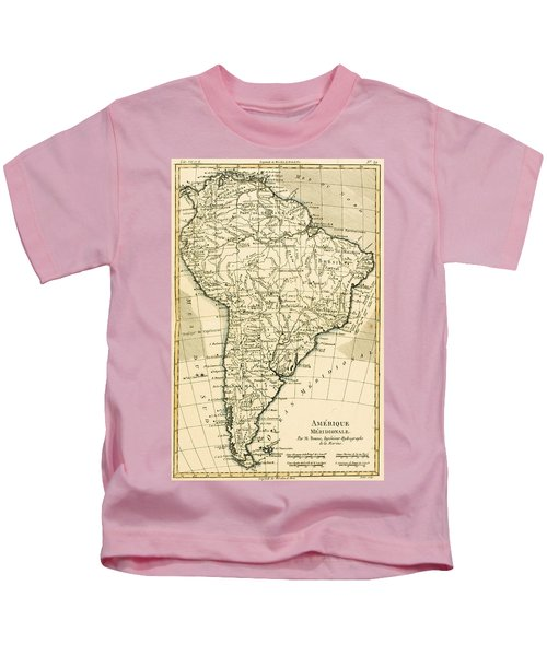 Map Of South America Kids T-Shirt