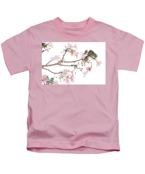 Pink Blossoms In Panama Kids T-Shirt