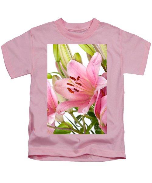 Pink Lilies 05 Kids T-Shirt