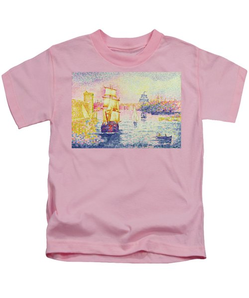 The Port Of Marseilles Kids T-Shirt