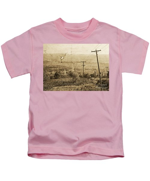 Vintage View Of Ontario Fields Kids T-Shirt