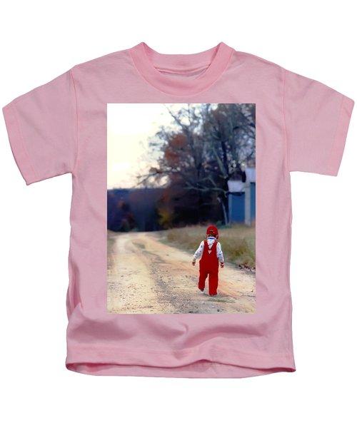 Walking On Pawpaw's Road Kids T-Shirt