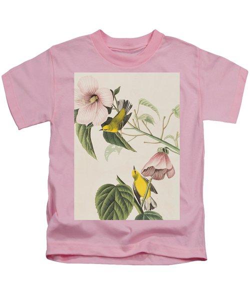 Blue-winged Yellow Warbler  Kids T-Shirt
