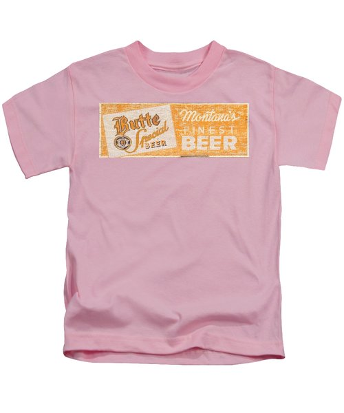 Butte Special Beer Ghost Sign Kids T-Shirt