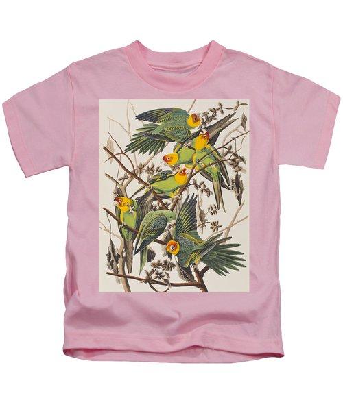 Carolina Parrot Kids T-Shirt by John James Audubon