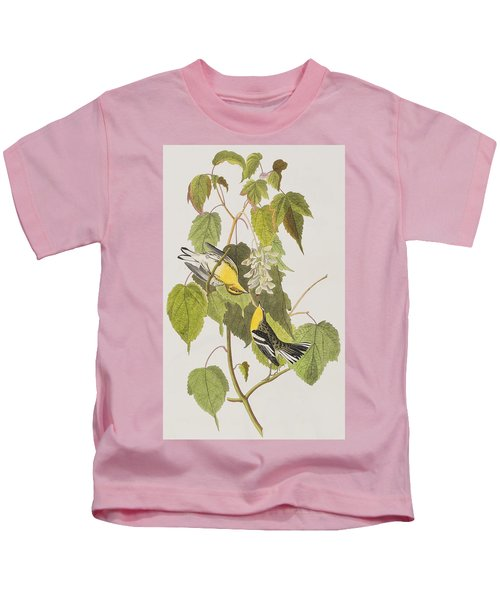 Hemlock Warbler Kids T-Shirt by John James Audubon