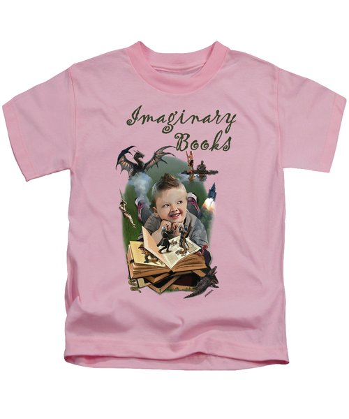 Imaginary Books Kids T-Shirt by Joseph Juvenal