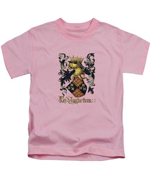 King Of England Coat Of Arms - Livro Do Armeiro-mor Kids T-Shirt