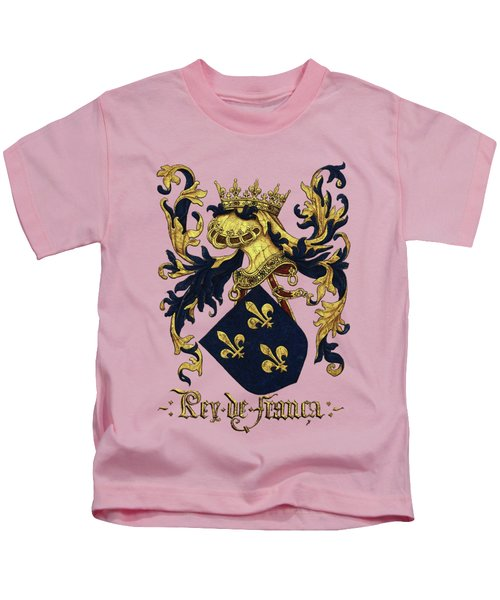 King Of France Coat Of Arms - Livro Do Armeiro-mor  Kids T-Shirt
